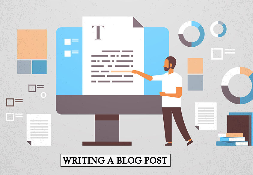 freelancer man copywriter reading editing text creative writing articles website promotion concept web page content management horizontal